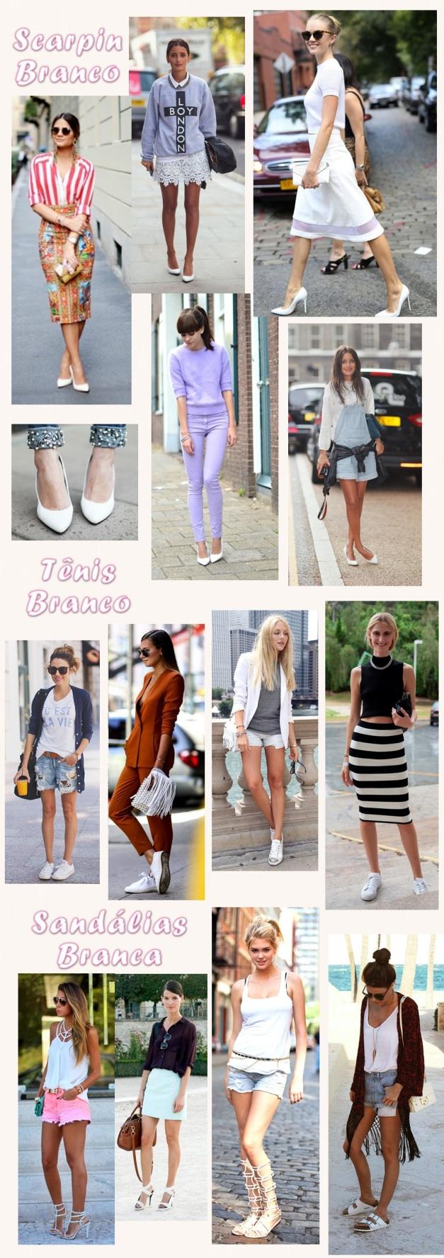 sapatos branco